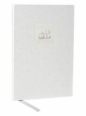 Humphrey's Corner White Baby Record Book With Small Floral Design