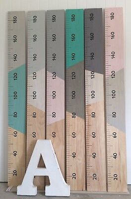 Giant Vintage Look Wooden Height Ruler / Growth Chart