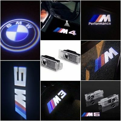 2x LED Car Door Led Laser Projector Logo Shadow Light Special For BMW All Series