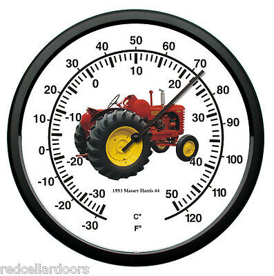 "New MASSEY HARRIS 1953 10"" Thermometer Model 44 Vintage Tractor Farmer Gift"