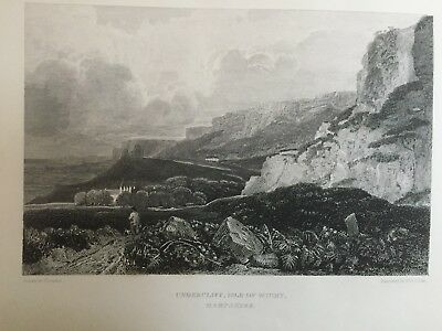 1824 Antique Print; The Undercliff, Isle of Wight after Peter De Wint