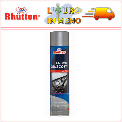 Lucida Cruscotti Auto Rhutten Spray Neutron Ml 600 Detergente Per Interni