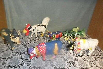 Lot of 6 Cow Parade Figurines 7254,7243,9150,9207, 9137,  Fruit & vegetables