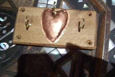 Handmade key racks, solid oak/ cherry, copper arts and crafts style UK made