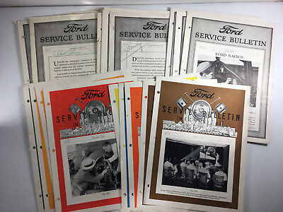 FORD SERVICE BULLETINS 1930s Assorted Lot of 17