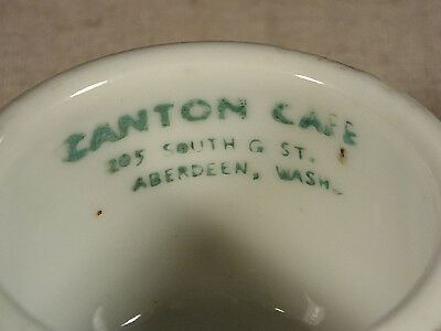 Chinese Restaurant Advertising Tea Cup Aberdeen, Wash Louie Japan Canton Cafe