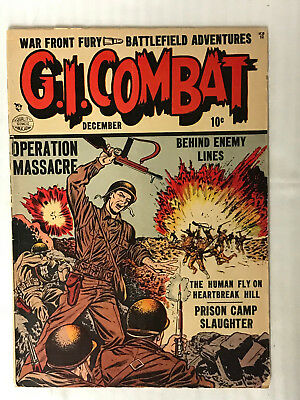 G.I. Combat #2 - (1952) Operation Massacre Cover! Low Grade Golden Age!