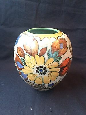Vintage Royal Zuid Gouda Holland Hand Painted Vase