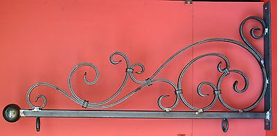 Wrought Iron Scroll Sign Bracket, Holder, 36 in., by Worthington Forge in USA
