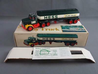 Vintage 1977 Hess Fuel Oils Toy Truck w/Box, Instructions & Inserts