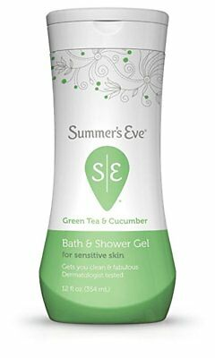 NEW Summer's Eve Green Tea and Cucumber Bath and Shower Gel 12 Ounces