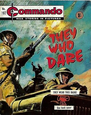 Commando War Stories In Pictures 197 They Who Dare