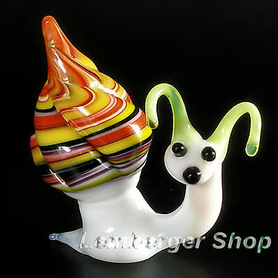 Glass figurine snail made of colored glass. Lenght 5 cm / 2 inch!