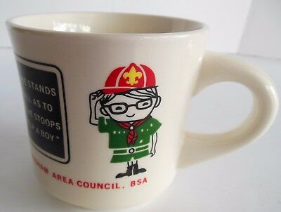Vintage Birmingham Area Council Coffee Mug Boy Scout BSA  No One Stands So Tall