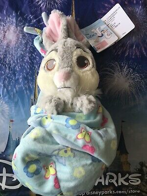 Disney Parks Baby Thumper in a Blanket Pouch Plush New with Tags