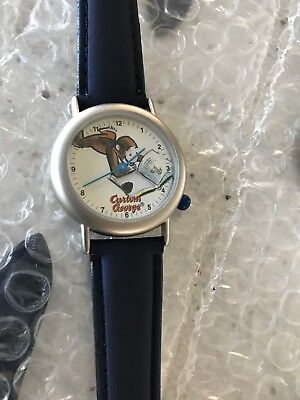 LOT OF 10 CURIOUS GEORGE Wrist WATCH Stainless Steel FRANCE Movement LEATHER NEW