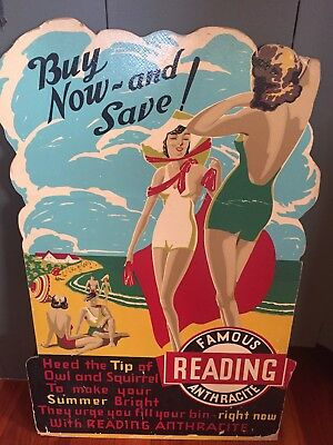 Famous Reading Anthracite Advertising Sign