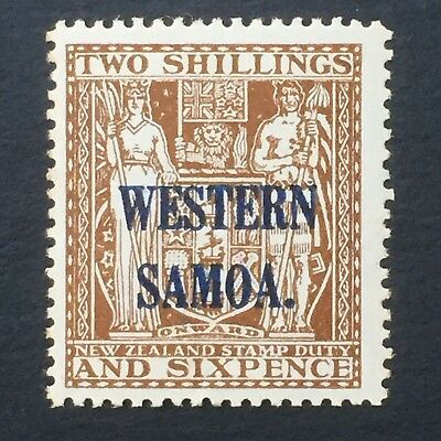 WESTERN SAMOA, SAMOA, 1931+, Arms Type, Stamp Duty, NZ overprint 2/6, MNH