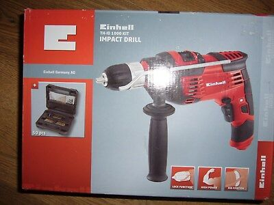 Einhell Th-Id 1000 Kit Impact Drill With 50 Piece Accessory Set.