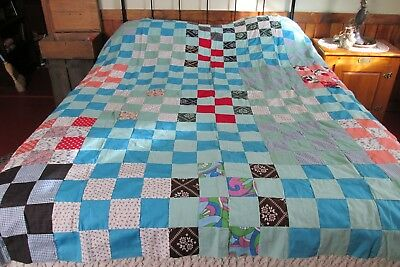 "Vintage Antique Quilt Top 83"" BY 68"""