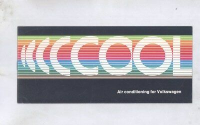 1972 1973 Volkswagen Beetle Karmann Ghia Bus Air Conditioner Brochure wy8724