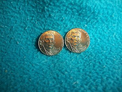 2017 P & D Jefferson Nickel Uncirculated, 2 Coins