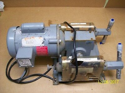 BUCKMAN DUAL PISTON PUMP with 1/4 BALDOR MOTOR 1 PHASE 115/208-230V 1725 RPM