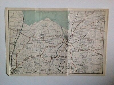 Kings Lynn, 1899 Antique Map, Bartholomew,  Original
