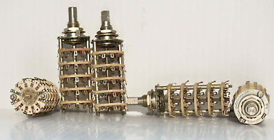 5 POLE 12 POSITION CERAMIC ROTARY SWITCH NEW OLD STOCK western electric mfg.