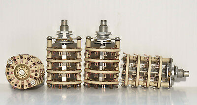 4 Pole 12 Position Ceramic Rotary Switch New Old Stock (Pa024-4988)
