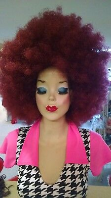 Afro 70's Disco Clown Colorful Wig Halloween