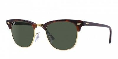 Ray-Ban Clubmaster Sunglasses RB3016 W0366 51 mm G-15 Green Lens/ Tortoise Frame