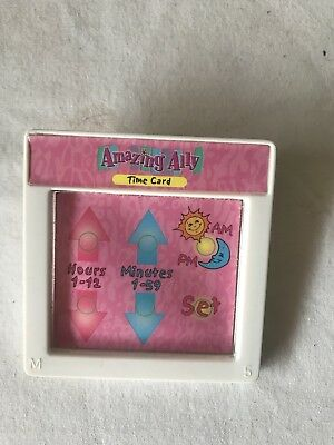 "Amazing Ally 18"" Interactive Doll Book Tea Party Time Game Card Cartridge"