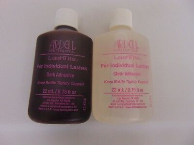 8bff99e2ad1 ARDELL LASHTITE EYELASH Adhesive Glue Dark & Clear 0.75 or 2 oz ...