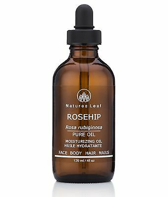 Rosehip Seed Oil, 100% Pure, Organic, Virgin Cold Pressed - 4 fl oz