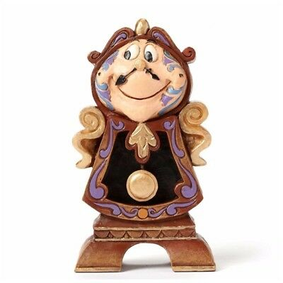 """Disney Traditions by Jim Shore """"Beauty and the Beast"""" Cogsworth Stone Resin..."""