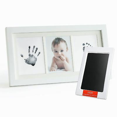 Up & Raise Premium No-Mess Ink Baby Footprint Handprint Picture Frame Kit –...