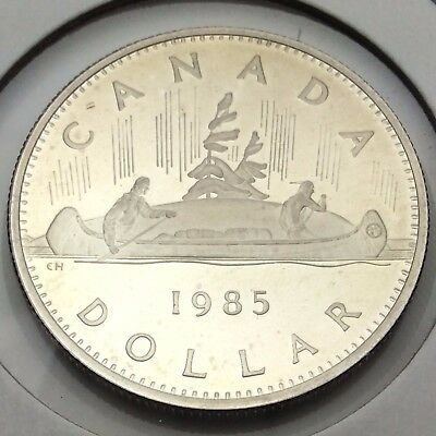 1985 Canada Nickel One Dollar Canadian Proof Uncirculated Coin Not In Case C576