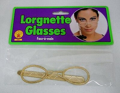 Costume Lorgnette Glasses Theater, Victorian, Steampunk No lenses By Rubies