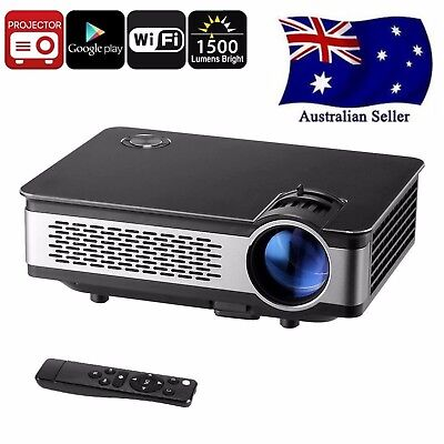 Android HD Projector - 1500 Lumen, 1280x768p, Android OS    AUS SELLER FAST POST