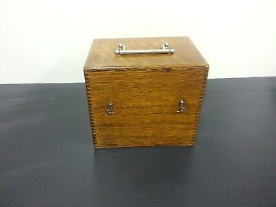 Antique Portable Faradic Battery In Dovetailed Oak Box Quack