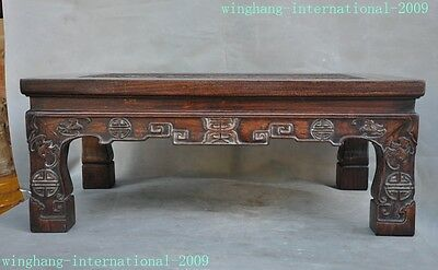 Chinese Huanghuali Wood Hand-Carved Dragon wealth bat coffee table Writing desk