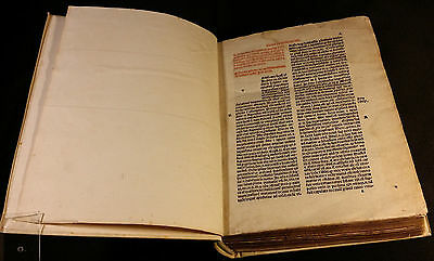1493: INCUNABLE - FIRST EDITION OF SHERMONES Franciscus de Mayronis (1280-1328)