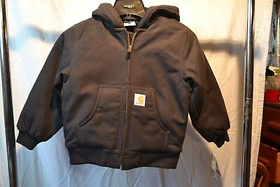 Carhartt Cavier Black Youth/Kids/Teenager Sizes Quilted Lining Jacket NWT
