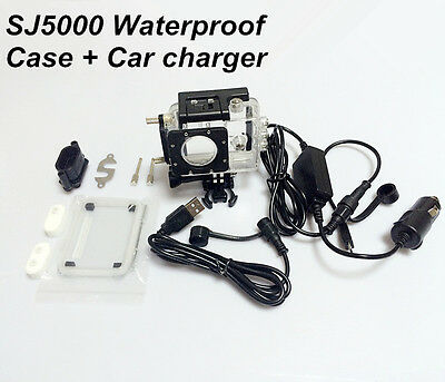 SJCAM Sports DV Accessory SJ5000 Waterproof Case Car Charger For Motocycle/ Car