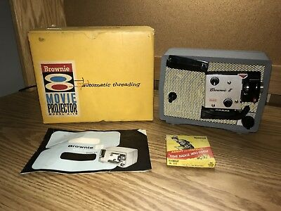 Vintage Kodak Brownie 8 Movie Projector With Original Box Model A-15