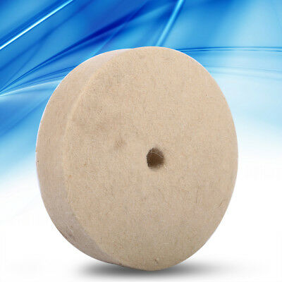 "100x25mm 4""Beige Jewelry Polishing Buffing Wheel Wool Felt Polisher Disc Pad AF"