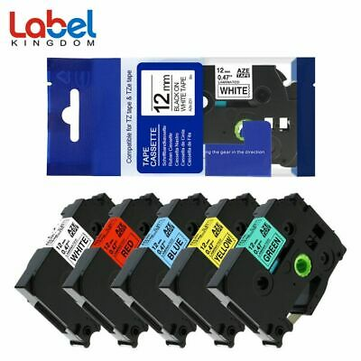 TZe231 431 531 631 731 Compatible for Brother P-Touch Label Tape PT-D210 5PK
