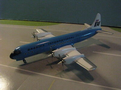 """Aviation 200 Braniff """"Blue"""" L-188 """"Electra"""" 1:200 Scale Diecast Metal Model"""