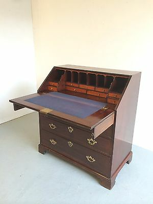 Stunning Antique Bureau Solid Mahogany Home Office / Desk
